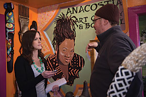 Kate Musselwhite '11 interviews curator Barry Blackman at the Anacostia Art Gallery and Boutique.