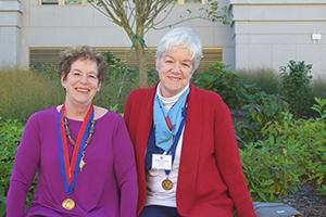 Kathy Kline and Charlotte Jones-Carroll, two alumni of the School of International Service