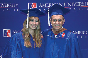Father and daughter graduate together at AU.