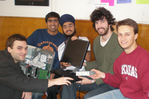 AU students at programming competition.
