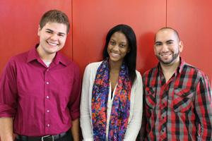 DC Student Interns, From left, Parrish, Kelly, and Leon.