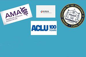 AMA ANA ACLU 100 NAACP
