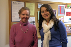 SOC Professor Dotty Lynch and TA Julie Gerdes