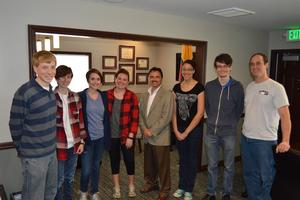 Students meet with Cherokee Principal Chief