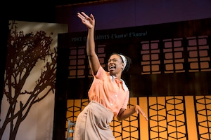 Actress Erika Rose performing in Caleen Jennings' play, Queens Girl in Africa