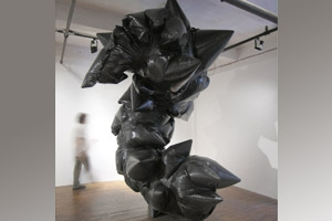 Dan Steinhilber, Untitled, 2009, trash can, fan, trash bags