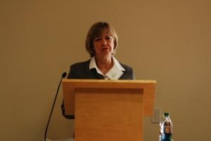 Dana Priest speaks at the US Foreign Policy Militarism conference.