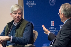 David Gregory Discusses New Book to a Full House at SIS