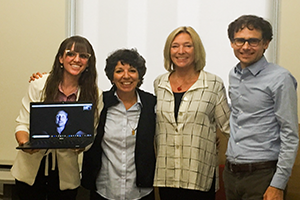 Samantha Dols with professors