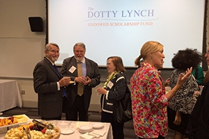 Morgan Downey and friends at the reception for the Dotty Lynch Endowed Scholarship Fund.