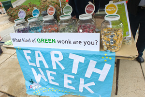 Earth Week Table display