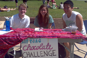 Fair Trade Student Association Tables during Earth Week 2012
