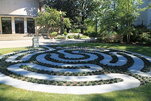 Finished picture of the Labyrinth in front of the Kay Spiritual Life Center on American University's campus.
