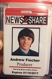 News2Share founder Ford Fischer's press credentials