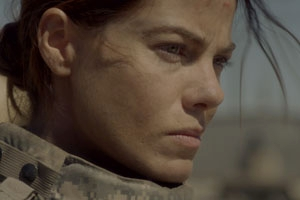 Michelle Monaghan stars in American University professor Claudia Myers's new film, Fort Bliss. Photo credit: Heriberto Ibarra Photography.
