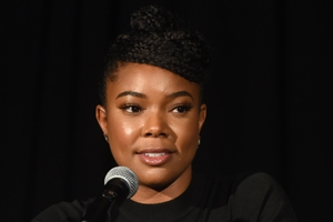Actor Gabrielle Union on stage in Bender Arena.