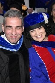 SIS Grad Suzanne Ghais with Prof. Wanis-St. John