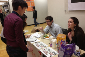 Green Eagles collect Meatless Monday pledges in TDR