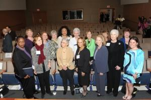 From left to right: Able Thomas, Charlene Haar, Elaine Baxter, Sylvia Garcia, Josie Heath, Stephanie Johnson, Ellen Wedum, Jean Lloyd-Jones, Michele Dyson, Connie Morella, Susan Stokes, Anna Nevenic, Claire Sargent, Pam Roach, and Jennifer Lawless.