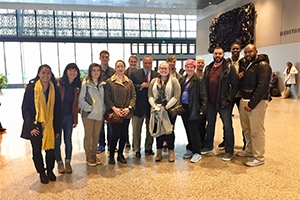 Producing the Historical Documentary students with NMAAHC Director Lonnie Bunch.