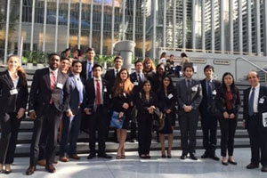 The International Business Club at their site visit to the World Bank.