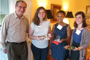 Dr. Porzecanski with three IER students for Welcome Reception.