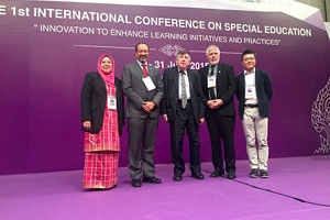 Associate Professor Derrick Cogburn presented at the inaugural International Conference on Special Education in Bangkok, Thailand.
