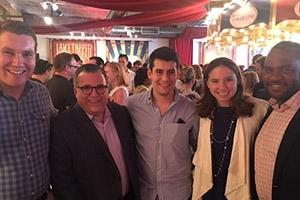 Students with CNN Political Director David Chalian