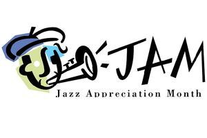 A banner for Jazz appreciation month