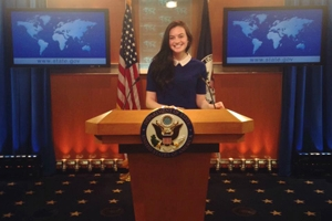 Jamie Sheasley, SIS/BA '17, interned U.S. Department of State's Bureau of International Organization Affairs.