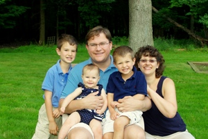 Ira and Hilary with their three children: <br />Isaac (7 years), Elaina (8 months), and Aaron (4 years).