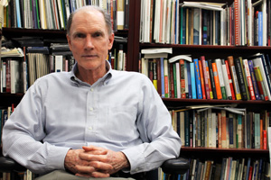 American University Chaplain Joe Eldridge in his office.