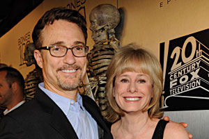 Barry Josephson and Kathy Reichs, CAS '70