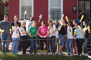 The Washington Initiative class volunteered for Hope and a Home.