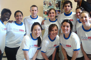 "Kogod MBA students participate in the ""Making a Difference is Our Business"" co-curricular program."