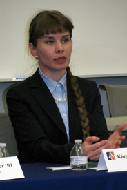 Photo of alum Khrystyna Kuchnir