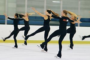 Synchronized Ice Skaters