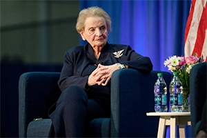 Madeleine Albright at AU. Credit: Photo Collective Photographer Anna Moneymaker.