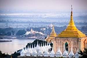A picture of Mandalay in Myanmar.