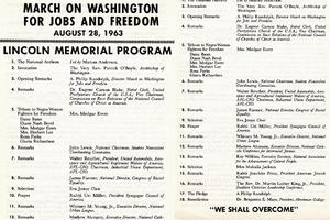 1963 March on Washington program