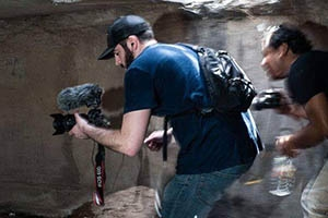 Matt Filming in Tunnel