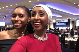 Mawal Sidi and Lauren Lumpkin