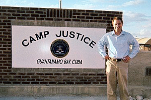 Photo: Washington College of Law student Michael McNerney was sent by the National Institute of Military Justice to observe legal proceedings at Guantanamo Bay.
