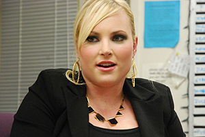 Meghan McCain being interviewed by the Eagle.