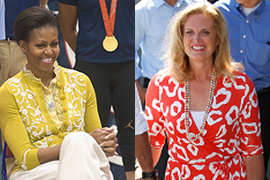 Will Michelle Obama or Ann Romney be next first lady? (left photo by Jeff Watts; right photo by istockphoto)