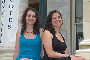Tasia Poinsatte, left, and Autumn Rauchwerk won NOAA's Ernest F. Hollings scholarships.