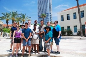 AU SIS students during their Summer Study Abroad program in Israel in 2014.