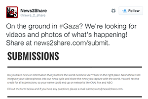 News2Share solicits submissions of video and photos from the public