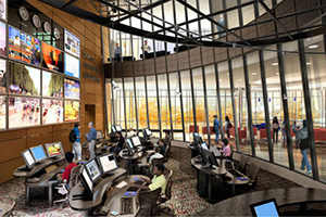 The new Newsroom in McKinley building
