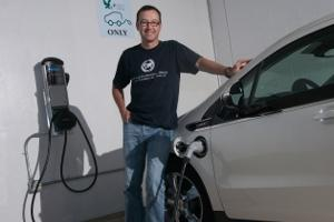Nils Dennis and his Chevy Volt